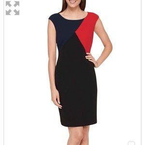 NWT Tommy Hilfiger Colorblocked Sheath Dress